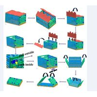 Plastic Mesh Folding Box for Storage Use