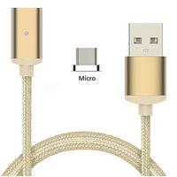 Magnetic Nylon Braid Micro USB Cable
