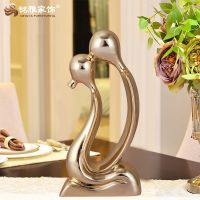 Kissing lovers decoration resin crafts statue