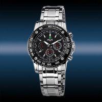 New WEIDE Men's Sport Army 6 Hands Wrist Quartz Watch,Swiss movement