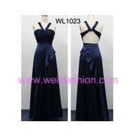 Long Pleated Satin Bridesmaid Dresses thumbnail image