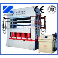Door skin hydraulic hot press machine for making door