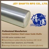 high precision SUS400 series stainless steel quenched linear shaft HRC56-58 surface roughness 0.05