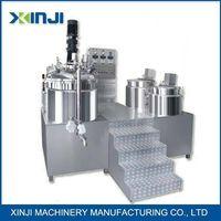 Cosmetic lotion making machine vacuum emulsifier