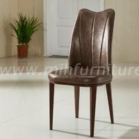 Modern Simple Style Steel Frame PU Leather Dining Chair