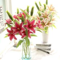 Wholesale Real Touch Artificial Lily Flower for Home Wedding Decor
