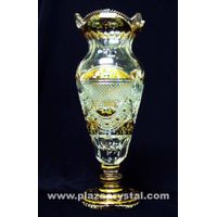 Bohemia Crystal Gold PK HExagonal Vase