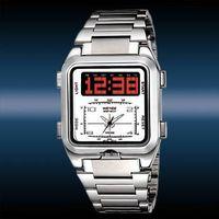 Weide Luxury LED Dual Core Digital Analog Men's Sport Watch & Waterproof