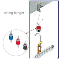 acoustic ceiling Anti Vibration sound isolation Resilient hangers for suspended Drop Ceiling