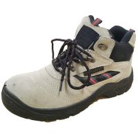 Wholesale Cheap Price Brown Suede Leather Middle Cut Safety Shoes with Steel Toe thumbnail image