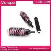 Round Plastic Nylon Brush Detachable Ceramic Ionic Hair Brush
