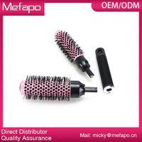 Round Plastic Nylon Brush Detachable Ceramic Ionic Hair Brush