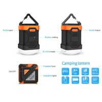Outdoor LED Ultra Bright Hiking power bank camping light led with waterproof IP65