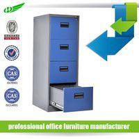 Anti tilt 4 drawer steel filing cabinet office furniture thumbnail image