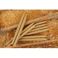 12pcs Natural hand dipped Beeswax Candles 100% Pure 1lb Total Weight