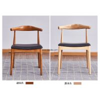 Solid Wooden Dining Chair With PU Cushion Indoor Use Furniture,Nordic style wooden chair, thumbnail image