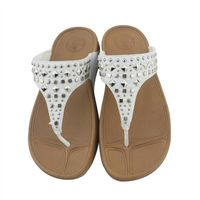 Women's Crystal flip flops with toning shoes weight loss women slippers