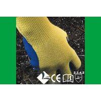 Kevlar knitting gloves veined blue Latex coated on palm thumbnail image