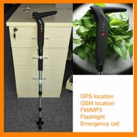 Electronic GPS Flashligh Alarm old man walking stick