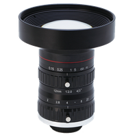 "4/3"" 10 Megapixel machine vision FA lenses 8mm, 12mm, 16mm, 25mm, 35mm, 50mm ITS lens"