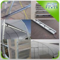 Greenhouse film locking galvanized structural steel profiles