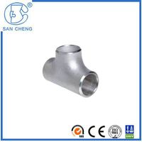Professional Pipe Fittings Stainless Steel Weld Tee Straight