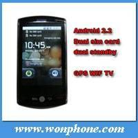 Flying F602 dual sim android gps mobile phone with 3.2inch multi-touch,WIFI, Compass thumbnail image