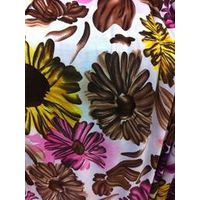 stretch fabric with sun flower