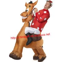 Inflatable Jockey and Horse Costume, with Shirt and Cap thumbnail image