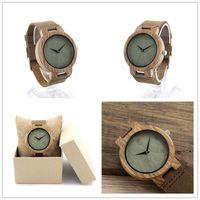 Natural wooden quartz wrist watch for ladies and men fashion wristwatch