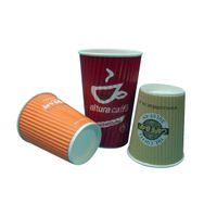 16oz Ripple Wall Printed Paper Cup for Hot coffee thumbnail image