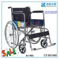 AJ-601 standard steel economic cheap wheelchair