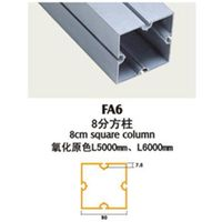 6000 series polished extrusion profiles aluminum booth