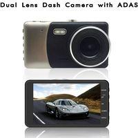 Dual Lens HD Car DVR with ADAS LDWS FCWS 4.0 Inch HD IPS Screen