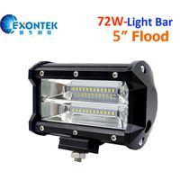 72W 5inch flood beam LED work light bar headlight driving light 4WD offroad JEEP Truck ATV UTE IP67