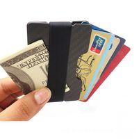 Slim Simple Customization RFID blocking carbon fiber id credit card holder