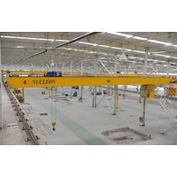 China manufacturer mobile double beam girder overhead bridge crane