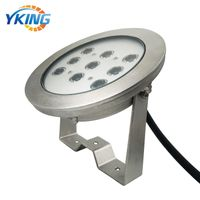 New design 316L Stainless steel IP68 9W/27W LED underwater light