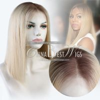 blonde straight bob wig
