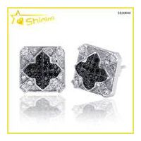 bling bling mens iced out cz earrings