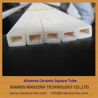 Alumina Al2O3 Ceramic Square Tube/Electrode for Corona Treaters