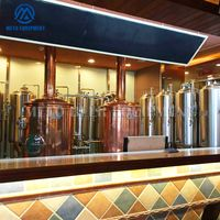 3BBL 5BBL red copper beer brewhouse for craft beer brewing system in restaurant pub brewery