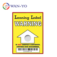 Leaning Label : Tiltwatcher Indicator Shipping Labels