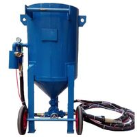 dry sand blasting machine for surface cleaning and treatment