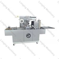 Automatic cellophane overwrapping machine for box