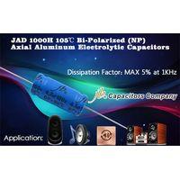 JAD - 1000H 105°C, DF at Max 5% BP Axial Aluminum Electrolytic Capacitors for Audio System