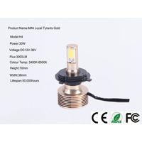 Mini local tyrant gold 30W H1 headlight, H3, H4, H7,9005,9006,9007,880