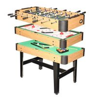 Multi-game table, 3 in 1,indoor game table