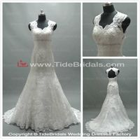Popular Mermaid Bridal Dress Lace Keyhole Back Lace-up Bridal Gown Wedding Dress (AS2662)