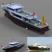 33.8m Fiberglass fishing boat/finerglass boat for sale